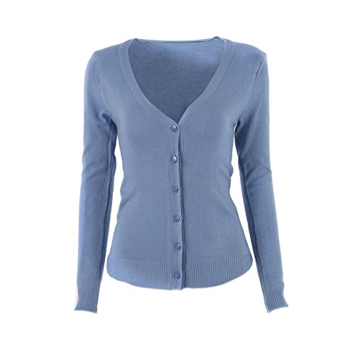 EXIU Girls Long Sleeve Sweater Knitted Button Coat Cardigan Knitwear Jacket Top