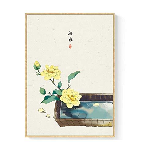 Original Chinesische Wandkunst Leinwand Malerei 24 Arten Von Festivals Poster Und Druck Bild Für Wohnzimmer Gang Studio Wohnkultur 60x80 cm (kein Rahmen) B
