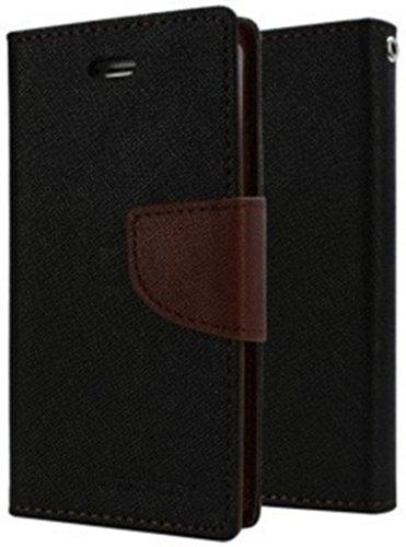 RJR Mercury Wallet Style Diary Flip Back Case Cover For Micromax YU Yuphoria YU5010-Black&Brown