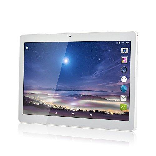 10 Zoll Octa Core CPU Android Tablet 4GB RAM 64GB interner Speicher WIFI Kamera GPS Dual SIM ohne Netzsperre 3G Tablet Metallic Silver (Tablets 3g)