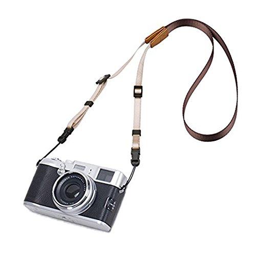 Kameragurt Universal Weiche Schultergurt Tragegurt Kamerariemen Kamera Gurt für Spiegellose und DSLR Kamera,Braun.