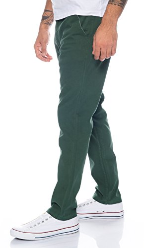Rock Creek Herren Designer Chino Hose Regular Slim Chinohose W29-W40 RC-390 Dunkelgrün