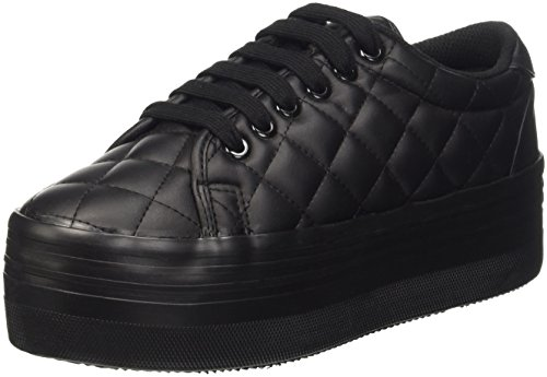 Jeffrey Campbell Zomg Quilted, Scarpe da Cheerleader Donna, Nero (Leather Black), 40 EU
