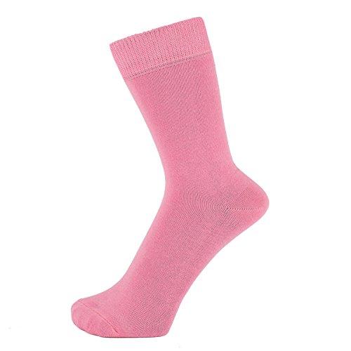 Calcetines tobilleros lisos de algodón ZAKIRA (Rosa, 39-46)
