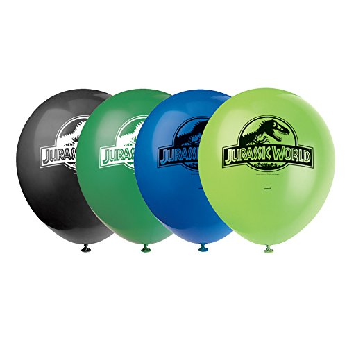 s 30,5cm Latex Jurassic World Luftballons, 8Stück ()