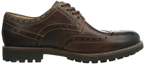 Clarks Montacute Wing, Montacute Wing - Black Leather homme Marron-TR-E1-353