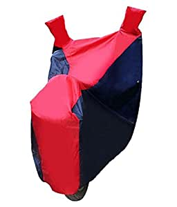Motoway Sporty Bike Motorcycle Body Cover Blue & Red With Mirror Pocket For KTM RC 200