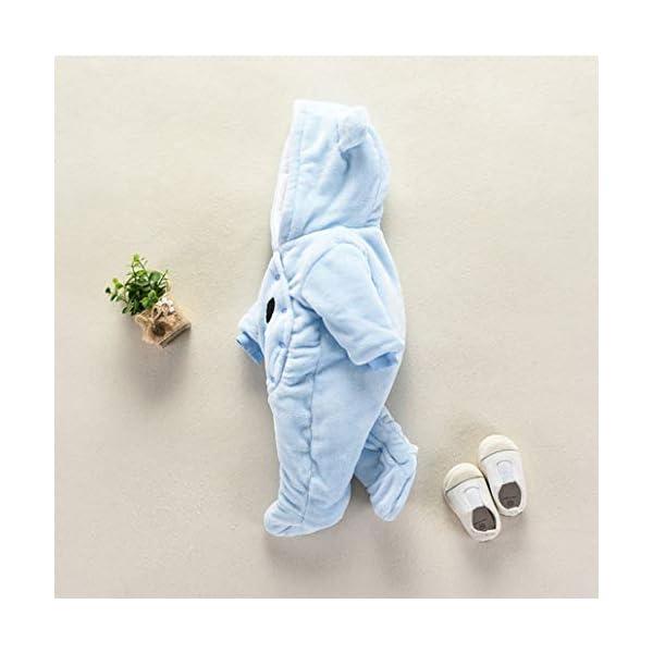Runuo Mameluco del bebé recién Nacido,Mono de Invierno de bebé con Pijama con Capucha Trajes Infantiles 5