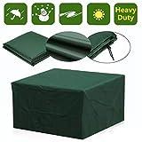 AAHIX Outdoor Gartenmöbel Abdeckung Wasserdichte Möbel Sofa Regen Staubschutz Wicker Sofa Set Schutz Tuch Tisch Stuhl Staubdicht Abdeckung,120x120x74cm