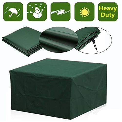 AAHIX Outdoor Gartenmöbel Abdeckung Wasserdichte Möbel Sofa Regen Staubschutz Wicker Sofa Set Schutz Tuch Tisch Stuhl Staubdicht Abdeckung,120x120x74cm -