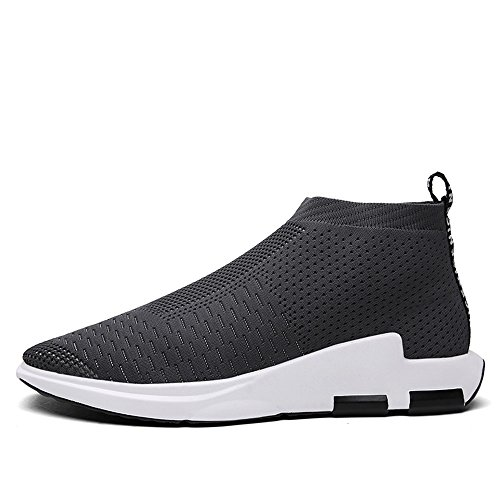 SITAILE Homme Chaussures de Course Sports Fitness Gym athlétique Baskets Sneakers Gris