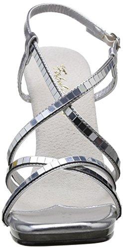 Pleaser Chic 09, Chaussures À Talons Hauts Pour Femmes Silver (silber (argent Mirroir / Transparent))