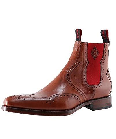 Jeffery-West Men's Leather Novikov Dexter Chelsea Boots UK 7 Tan