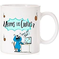 Taza ¿Aceptas la descarga de cookies? claro que si. Taza regalo para informaticos