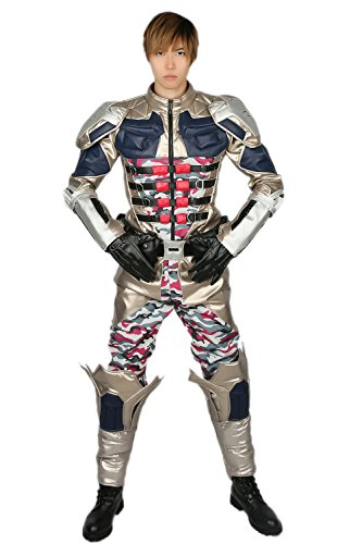 Cosplay Bane Kostüme (Halloween Cosplay Kostüm Erwachsene Herren Militär Anzug Uniform Camouflage Fancy Dress Party Outfit)
