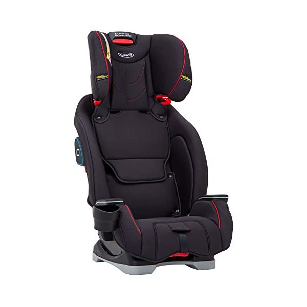 Graco SlimFit All-in-One Car Seat, Group 0+/1/2/3, Fiery Red Graco 3 in 1 car seat can be used from birth up to 36 kg (approximately 12 years). rearward facing for longer from birth to approx. 4 years (0-18kg) Easily converts to and from the three riding positions; rear-facing harnessed seat (0-18kg), to forward-facing harnessed seat (9-18kg) and to high back booster (15-36kg) True shield safety surround side impact protection for enhanced safety 6