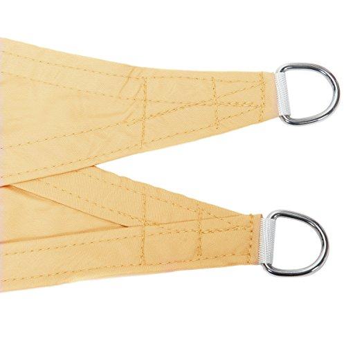 confronta il prezzo Cool Area Tenda a vela impermeabile rettangolare 2 x 3 metri protezione raggi UV, Sabbia miglior prezzo
