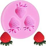 salamii Erdbeere Schokolade Candy Formen Silikon Fondant Kuchen Form Gebäck Maker Werkzeuge (Pink)