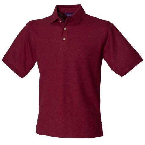 Henbury Herren Polo Shirt Ultimate Burgunder