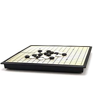 Dfghbn-YXWJ Go Game Set Go Game Set Magnetisch Go Game Set (19×19) Praktische magnetische Konvexe Einzelsteine für…