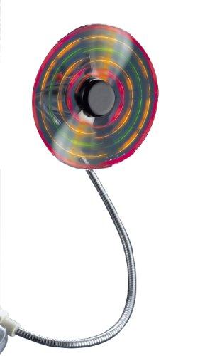 BECO USB-LED-Ventilator 5 LEDs mit farbigem Matrix-Effekt geringer Energiebedarf leiser Elektromotor weiche Flügel flexibel einstellbarer Schwanenhals kompatibel für PCs Notebooks und PDAs für alle USB-Steckdosen