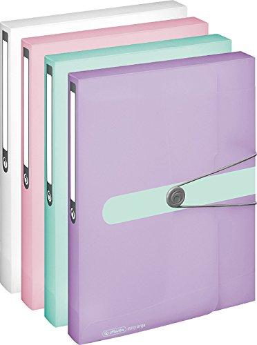 4x Herlitz Sammelbox / Heftbox / DIN A4 / 4 verschiedene Farben