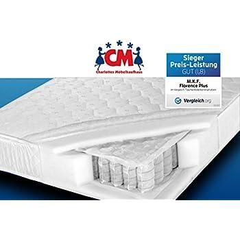 Tonnen Taschenfederkernmatratze 90x200 Cm Florence Plus Qualitätsmatratze  Tonnentaschenfederkern H2. Federkernmatratze Liegefläche 90 X 200