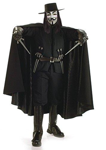 Kostüm V Vendetta - Generique - Aufwendiges V wie Vendetta-Kostüm für Erwachsene Einheitsgröße