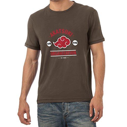 TEXLAB - Akatsuki Organization - Herren T-Shirt Braun