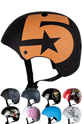 Skullcap® BMX Helm - Skaterhelm - Fahrradhelm - Herren Damen Jungs & Kinderhelm, schwarz, Gr. S (53 - 55 cm), No. 5