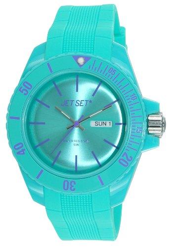 Jet Set–J83491-22Bubble Rubber Strap Unisex Watch–Analogue Quartz–Dial–Turquoise–Turquoise