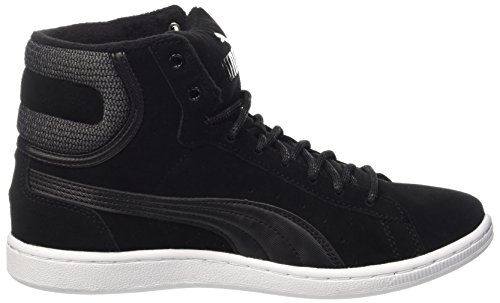 Puma Vikky Mid Twill Sfoam, Baskets Basses Femme Noir - Schwarz (puma black-puma Black 03)