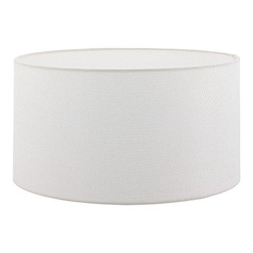 EGLO Lampenschirm 1+1 Vintage, Leinen, Ø 50 cm, E27, weiß Weiss | 49569