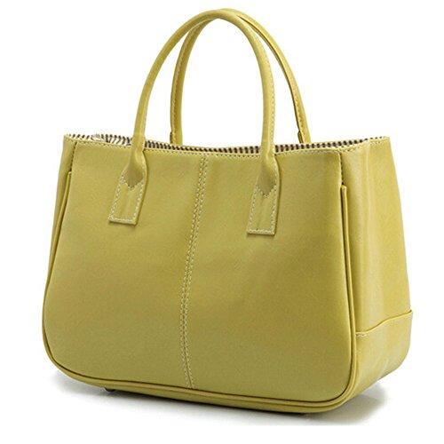 DELEY Mode Féminine Simple Business Design Top Handle Bag Sac À Main Bureau Dames Vert
