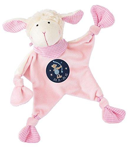 sigikid, Mädchen, Schnuffeltuch, Schaf mit Sternzeichen Schütze, Rosa, 48824