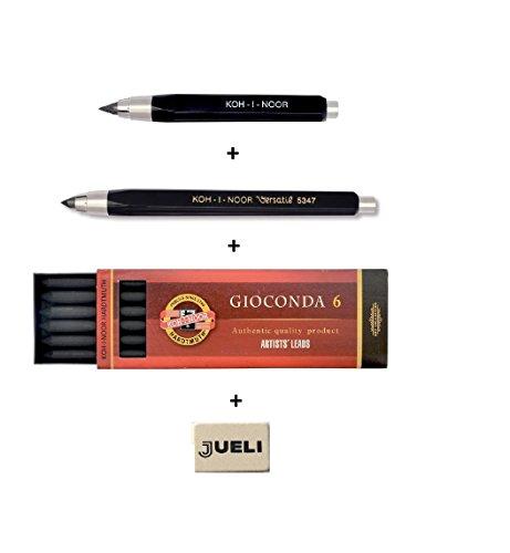 Set Koh-I-NOOR 5344 und 5347 5,6 mm Durchmesser Mechanische Kupplung Minenhalter Bleistift +...