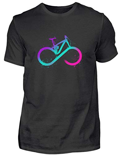 Infinity Love MTB Fahrrad Mountainbike Geschenk - Herren Shirt -4XL-Schwarz