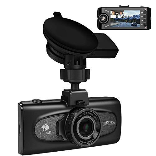 Z-Edge GPS Dashcam Dual Autokamera 2,7 Zoll LCD Bildschirm, Ultra HD 1440P mit Innenkamera Full HD 1080P, Infrarot Nachtsicht, 150° Weitwinkelobjektiv, Loop-Aufnahme, G-Sensor, Bewegungserkennung Full-hd-lcd