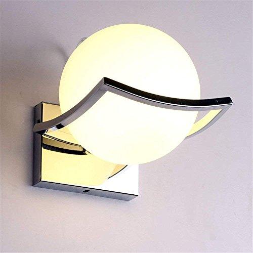 WLL Moderne innen Chrom ball Nacht Licht, das mit dem Edelstahl Inhaber der Flur Lounge des Schlafzimmer Badezimmer stock Kinder Zimmer