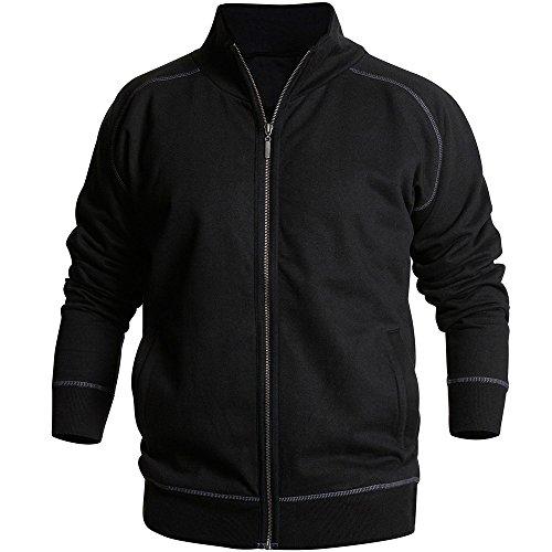 Sweat Shirt BLAKLADER Zip schwarz