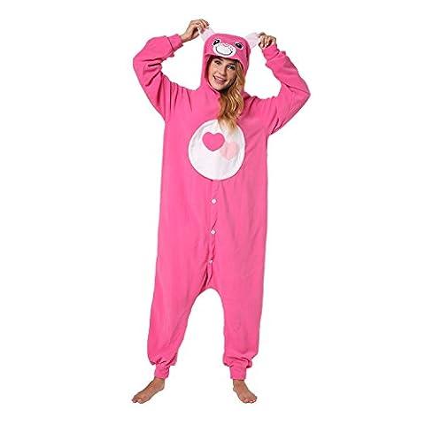 Katara - Funny Love-a-Lot Bear, Pink Care Bears Onesie Jumpsuit,