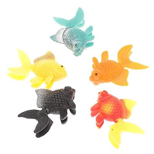 Lomire Kunststoff künstliche Fische künstliche Kunststoff-Blase Lampe Aquarium Tropische Fische Abbildung Modell für Blase Lampe Aquarium -