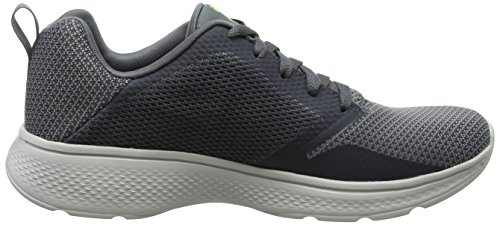 Skechers Herren Go Walk 4-Solar Sneaker Grau (Charcoal/lime)