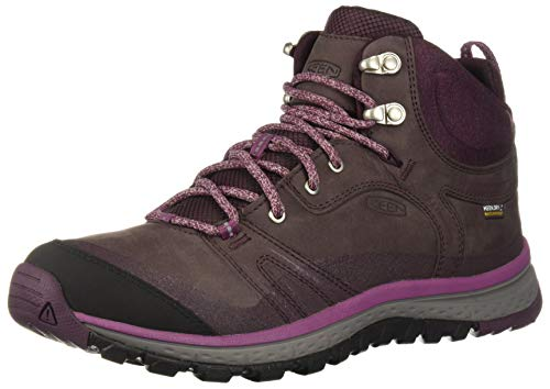 KEEN Terradora Leather Mid Waterproof Women's Wandern Stiefel - 40.5 (Stiefel Keen-womens Wasserdicht)