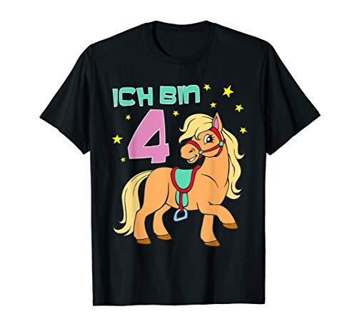 Geburtstags TShirt Pferd für Mädchen 4 Jahre