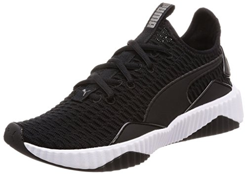 Puma Defy Wn's, Scarpe Fitness Donna, Nero Black White, 39 EU