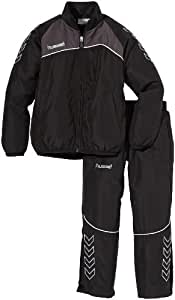 Hummel Kinder Trainingsanzug Grassroots Micro Suit, Black/Nine Iron, 6, 51-004-2656