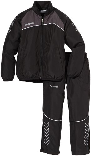 Hummel Kinder Trainingsanzug Grassroots Micro Suit, Black/Nine Iron, 14, 51-004-2656