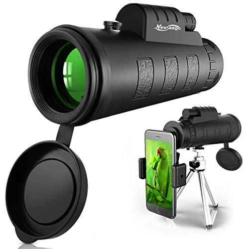 Newseego 50x60 Telescopio Monocular, HD de Alta Potencia con Clip de Teléfono y Trípode para Teléfono...