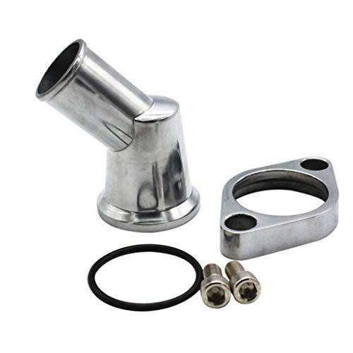 Luckiests Auto poliertes Aluminium 45 Grad verchromt O-Ring Wasser Hälse Ersatz für Chevy SB BB 327 350 454 396 Motoren